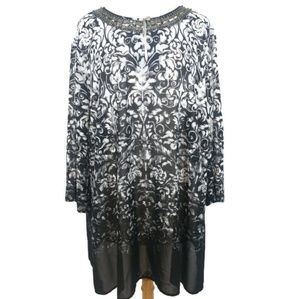 Catherine's Beaded Floral Ombre Tunic Top